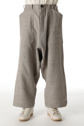 O PROJECT21-22AWWIDE TROUSERS Light Gray