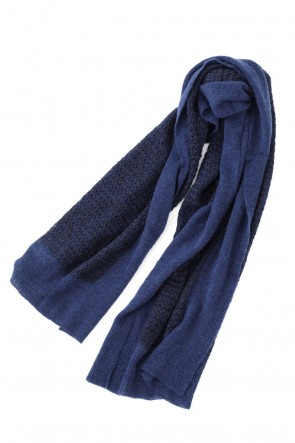 "STEPHAN SCHNEIDER 20-21AW Bicolor Switching Knit Stole ""Christie`s"""