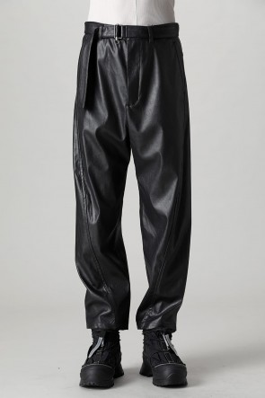 VEIN21-22AWSynthetic leather belted balloon Trousers