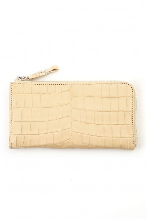 cornelian taurus Classic Tower Wallet Cow Crocodile Natural