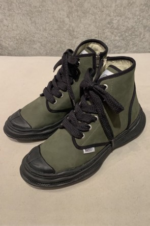 MIHARAYASUHIRO 20SS Original sole Military boots in leather Khaki