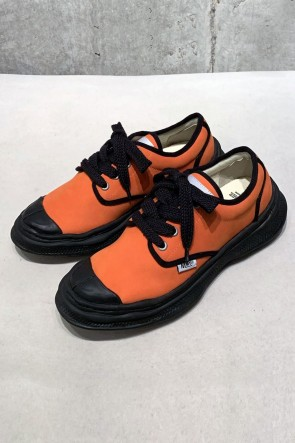 MIHARAYASUHIRO 20SS Original sole Military shoes  in leather Orange