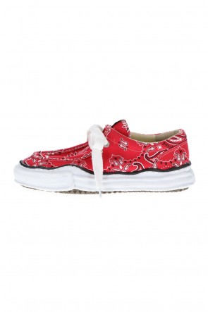 MIHARAYASUHIRO 21SS Original sole canvas moccasin bandana sneakers Red