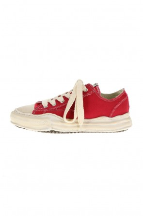 MIHARAYASUHIRO21-22AW-PETERSON low- Over-dyed original sole canvas Low-Top sneakers Red