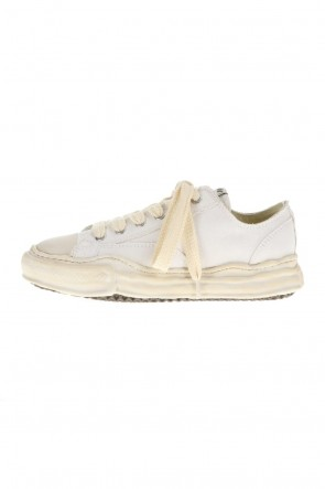 MIHARAYASUHIRO21-22AW-PETERSON low- Over-dyed original sole canvas Low-Top sneakers White