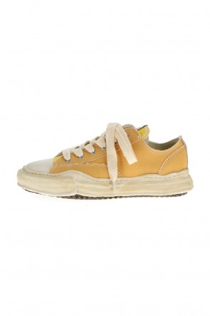 MIHARAYASUHIRO21-22AW-PETERSON low- Over-dyed original sole canvas Low-Top sneakers Yellow
