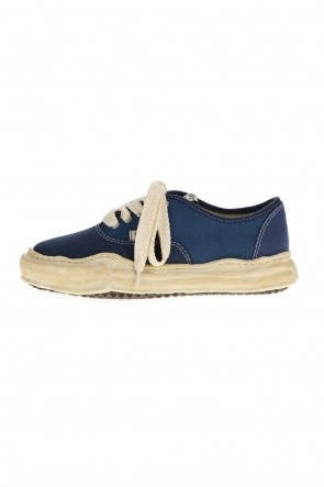MIHARAYASUHIRO21-22AW-BAKER- Over-dyed original sole canvas Low-Top sneakers Blue