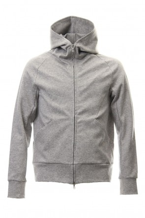 ATTACHMENT19SS60/1 Double Face ZIPUP Hoodie L.Gray