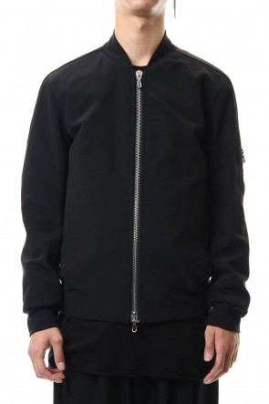 ATTACHMENT Classic Ta/Pe Double face MA-1 jacket Black
