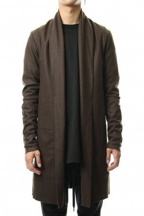 ATTACHMENT 19-20AW Flannerana smooth long Stole Cardigan D-Khaki