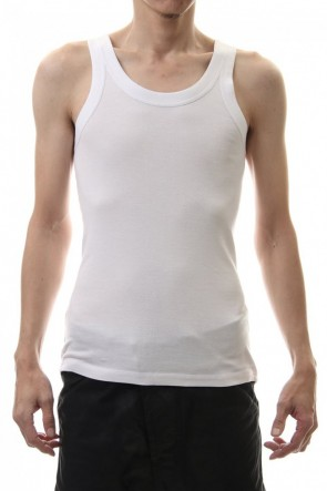 ATTACHMENT 20SS Silky Bio fraise tank top White