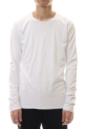 ATTACHMENT 20SS 80/2 Tightness plain stitches Crew neck layered L/S White