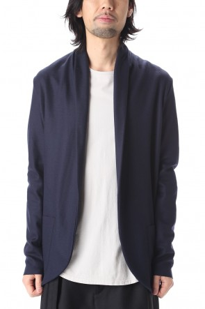 ATTACHMENT 20-21AW Flannelana smooth Stole cardigan Navy