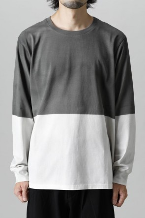 ATTACHMENT21-22AWUltima silky Jersey stitch spray dyed Crew neck pullover Gray