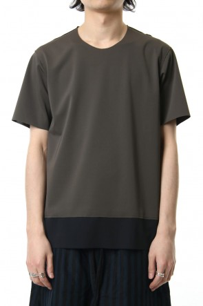 ATTACHMENT 19SS Matt Stretch Jersey Crew Neck S/S T-shirt D.KHA Gray