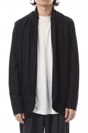 ATTACHMENT 19-20AW Flannerana smooth stole cardigan Black