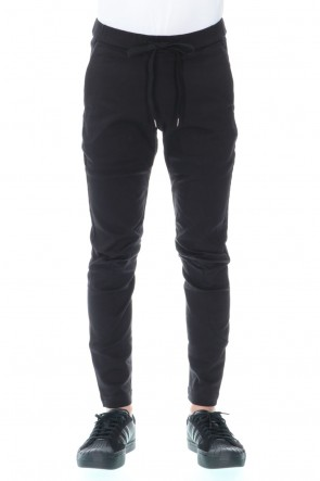 ATTACHMENT20-21AW10/1×20/1 High power stretch twill Biker easy pants Black