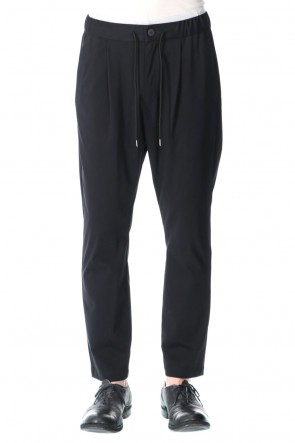 ATTACHMENT21SSHigh Gauge Jersey One Pleat Easy Pants Black