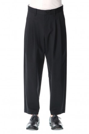 ATTACHMENT21SSPonte Jersey 2 Pleats Tapered Fit Trouser Black