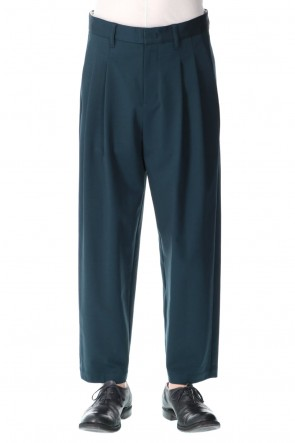 ATTACHMENT21SSPonte Jersey 2 Pleats Tapered Fit Trouser D.Green
