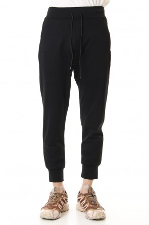 ATTACHMENT 19SS Double Face Jogger Pants Black