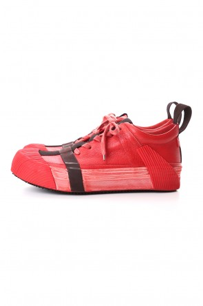 BORIS BIDJAN SABERI 20SS BAMBA2 - VEG TAN HORSE SKIN - Blood Red
