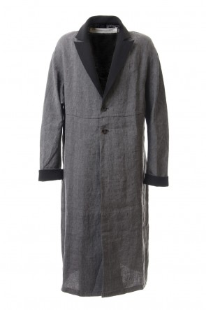 individual sentiments 20SS Linen Herringborne Bio Finish Light Coat - CA5-LI13 GrayBlack