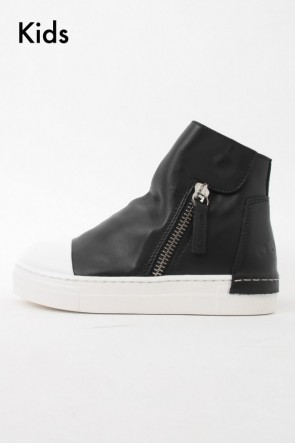 "CINZIA ARAIA 16-17AW 16AW ARAIA KIDS ""JOY COLORS"" NERO Side Zip Sneakers BLACK SIZE 26 (2〜3 Years old)"