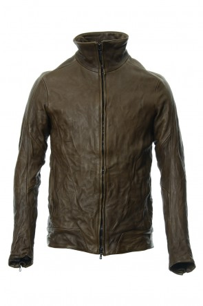CIVILIZED 18SS LEATHER TRACK JACKET - Khaki - CJ-1636
