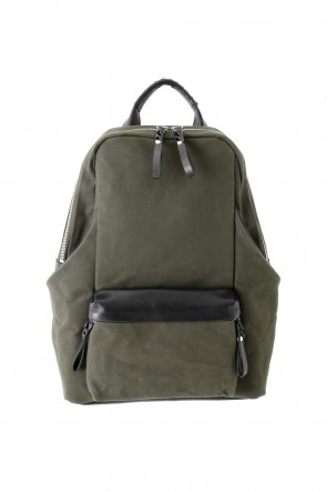 cornelian taurus Classic Tower Ruck - Canvas × Cow Leather