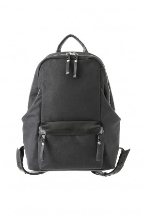 cornelian taurus Classic tower Ruck –Linen×Steer Leather Black