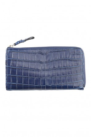 cornelian taurus Classic Tower Wallet Cow Crocodile Ai Indigo