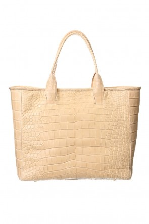 cornelian taurus Classic Cut off Tote BIG Crocodile Natural