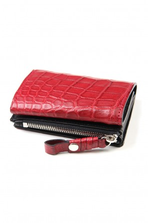 cornelian taurus 20SS connect wallet mini crocodile Red