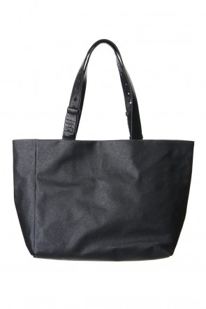 cornelian taurus 20SS hand piece tote Proof canvas x mat Black