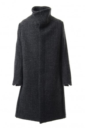 individual sentiments 19-20AW Hight Neck Coat Wool Angora Tweed - CO9-HW16