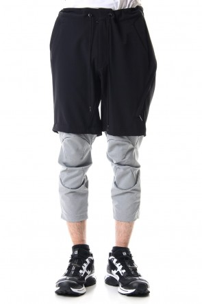 CIVILIZED 19SS 3/4 SURVIVAL LAYERED PANTS Black x Gray - CS-1815