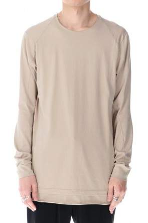 DEVOA 21SS Long sleeve egyptian cotton jersey (SUVIN) Light Beige
