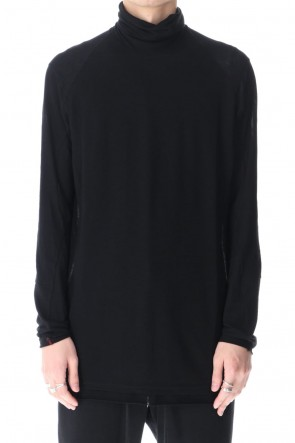 DEVOA 21SS High neck long sleeve light jersey Black