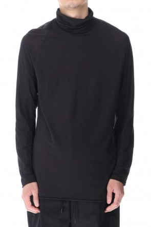 DEVOA 21SS High neck long sleeve light jersey Charcoal