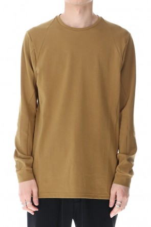 DEVOA 21SS Long sleeve cotton jersey Dark Mustard