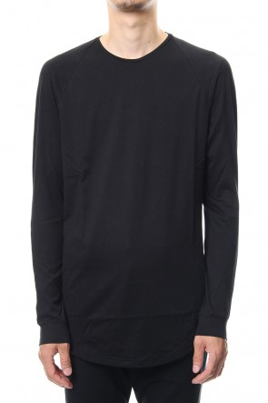 DEVOA 18-19AW Long sleeve  egyptian cotton  jersey ( SUVIN ) Black