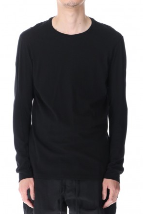 DEVOA 21SS Long sleeve cotton / silk jersey Black