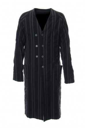 DEVOA 18-19AW Coat Wool/ Cotton Stripe