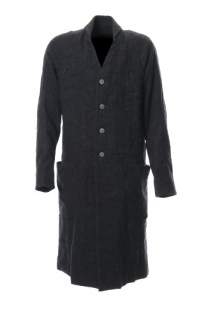 DEVOA 18-19AW Coat Wool Printed