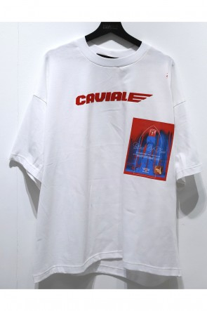 CAVIALE 20-21AW WHITE T-SHIRT
