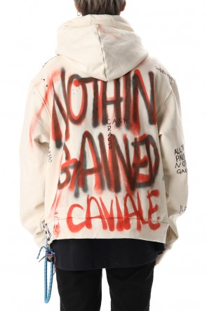 CAVIALE 20SS Zip Up Hoodie White