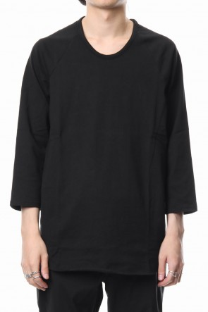 CIVILIZED 19-20AW U NECK 3/4 SLEEVE Black
