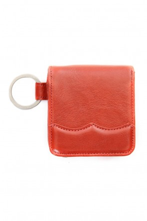 MIHARAYASUHIRO Classic Wing Tip Coin Case Orange