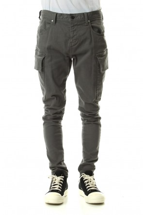 DIET BUTCHER SLIM SKIN 19-20AW Loose fit cargo pants Olive Gray